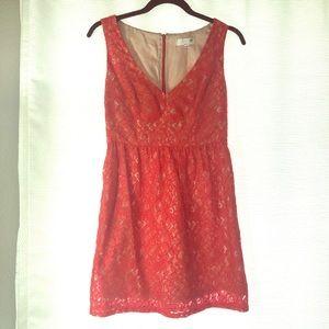 Sexy Shoshanna Red Phoenix Lace Dress Size 2